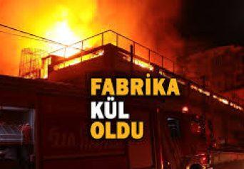 Sancaktepe'de Alüminyum Fabrikasında Yangın!